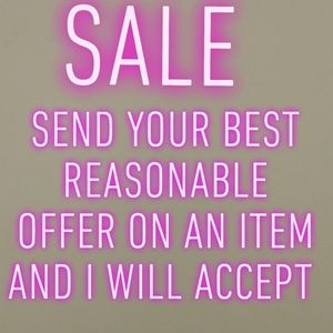 SALE SEND YOUR BEST OFFER